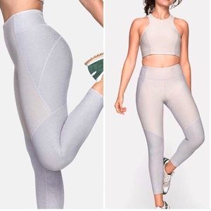 Outdoor Voices Two Tone Leggings Oatmeal Ash